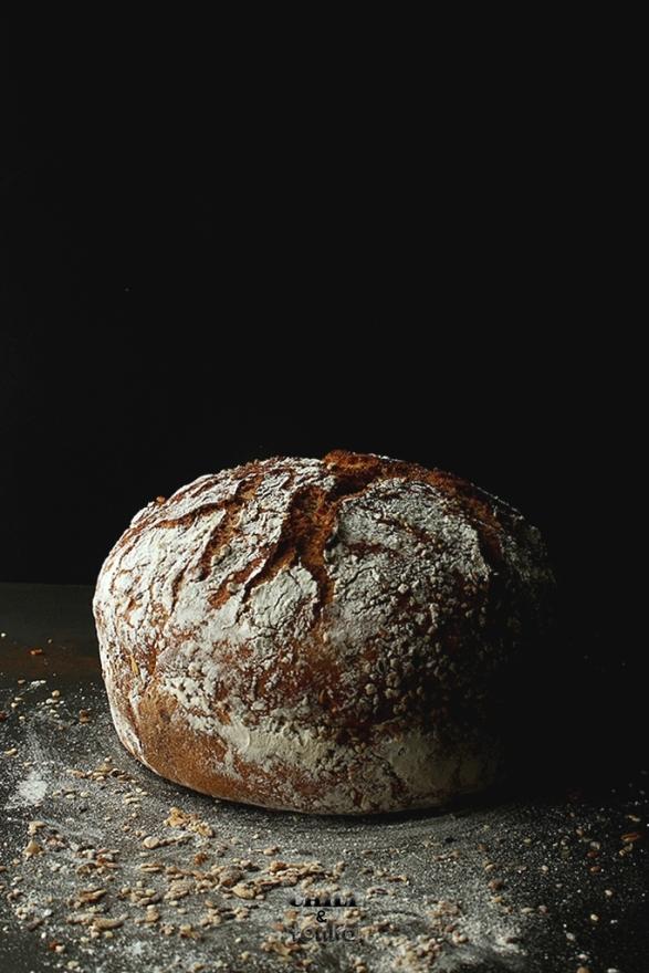 Jim Lahey's Whole Wheat 18 hour bread  2 Chili & Tonka