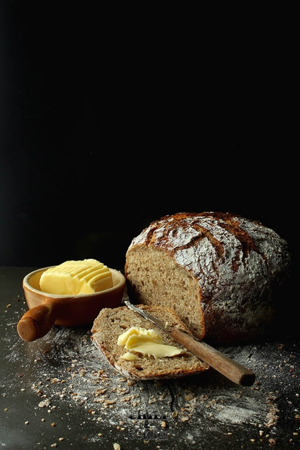 Jim Lahey's Whole Wheat 18 hour bread 5 Chili & Tonka