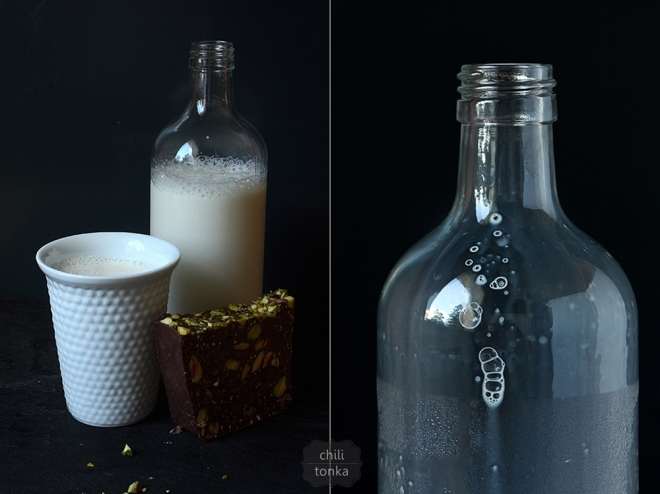 Czekolada i butelka CT
