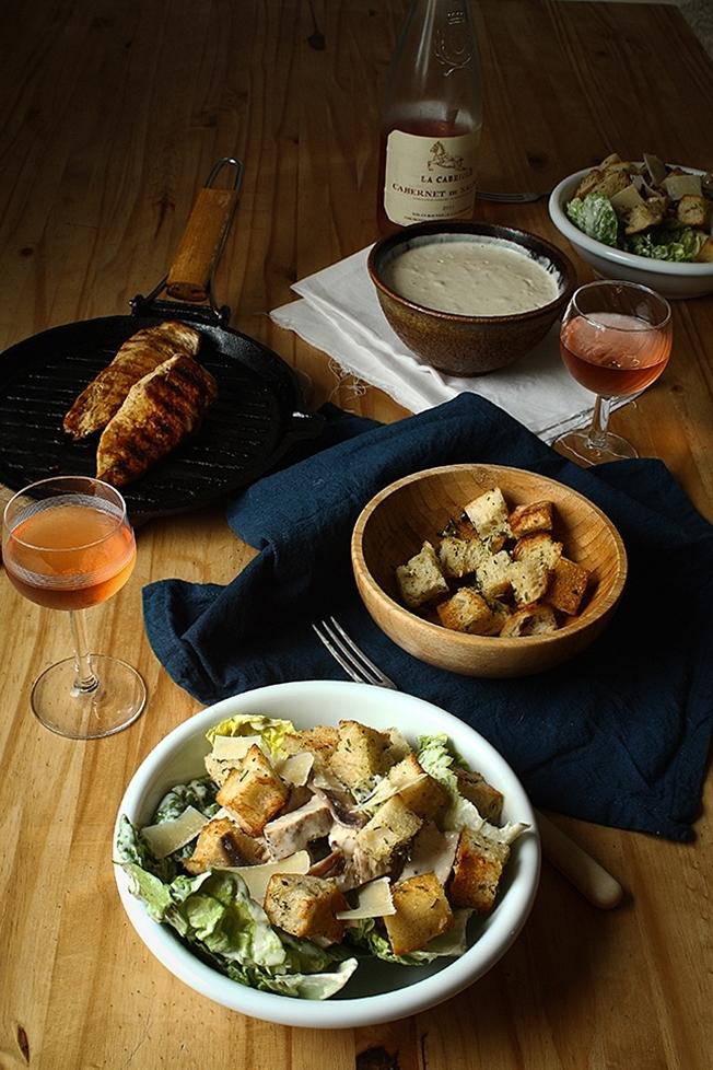 Grilled chicken Caesar salad 1 CT