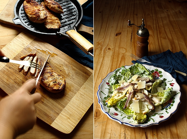 Grilled chicken Caesar salad duo CT