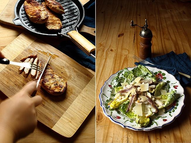 Grilled chicken Caesar salad duo CT