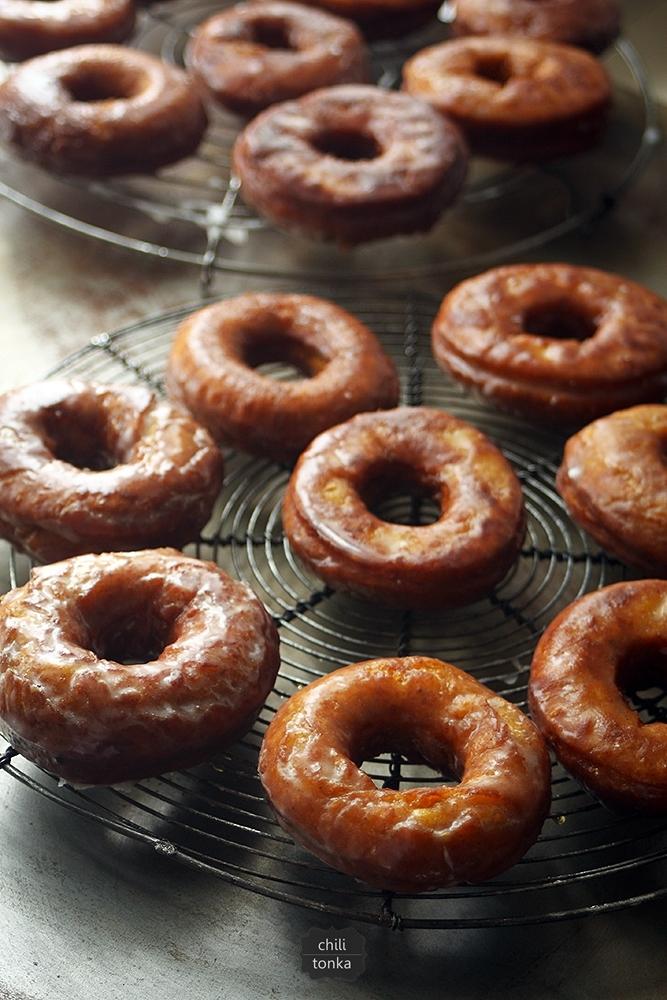 Pumpkin Donuts with Buttermilk Glaze