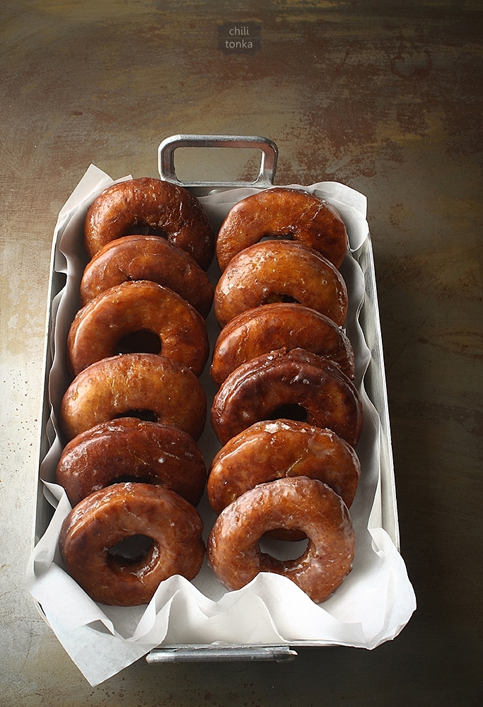 Pumpkin Donuts with Buttermilk Glaze