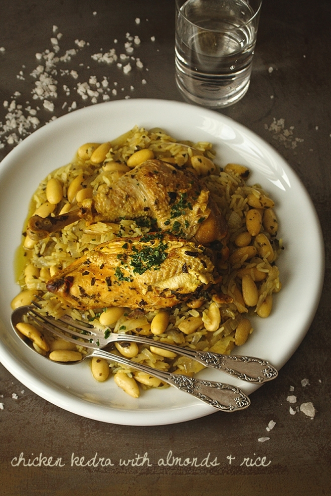 Chicken Kedra with almonds & rice