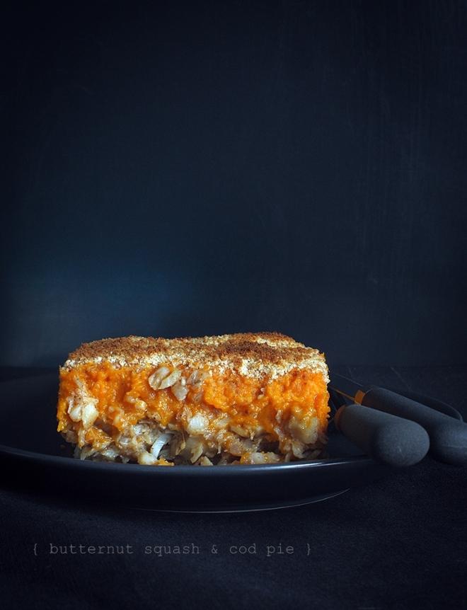 butternut squash & cod pie