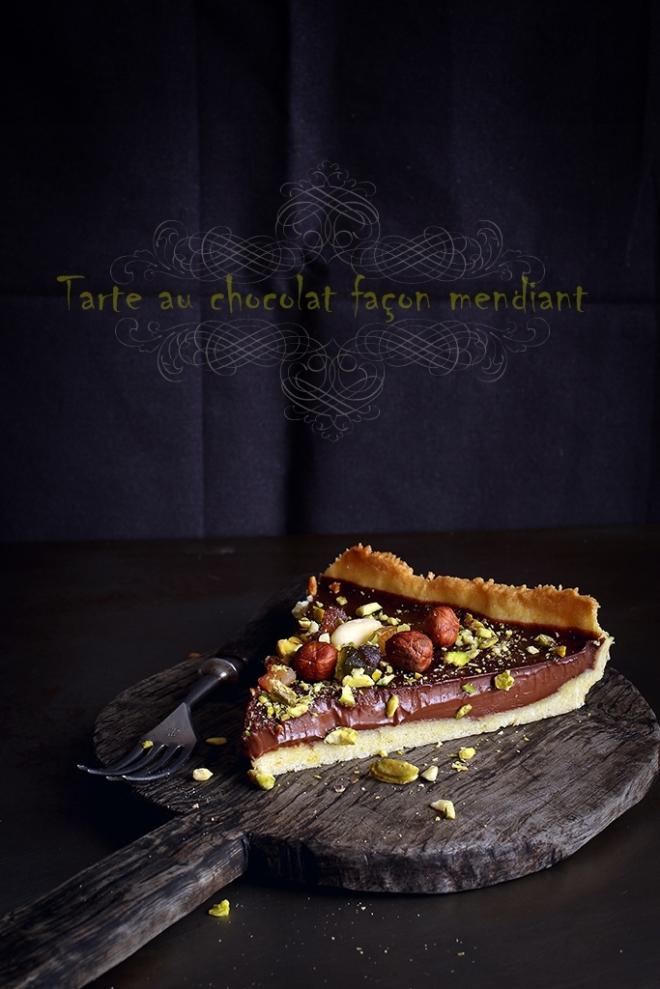 Tarte au chocolat façon mendiant