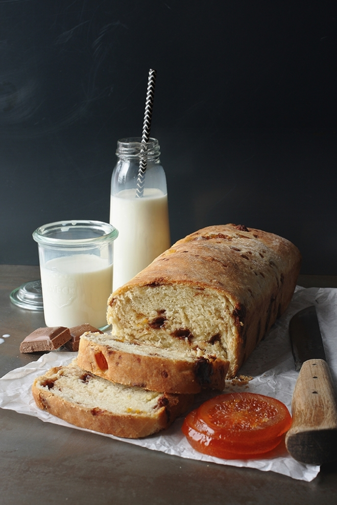 Chocolate and candied orange bread