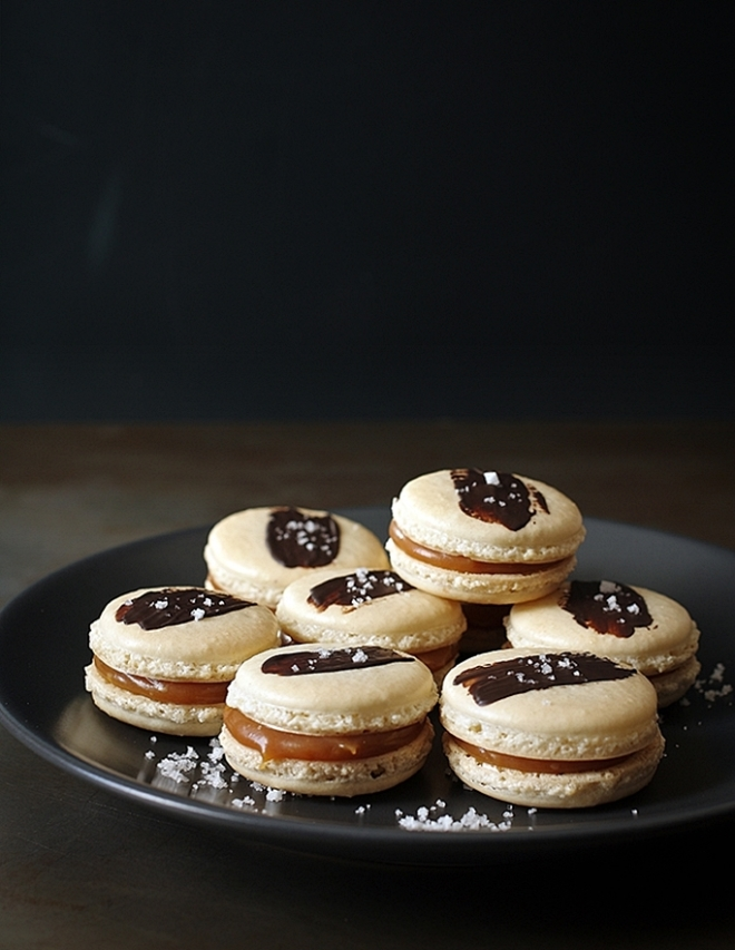 Macaroons with salted butter caramel
