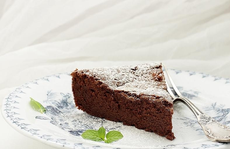 Ciasto czekoladowo – kasztanowe bez mąki / Flourless chocolate – chestnutcake