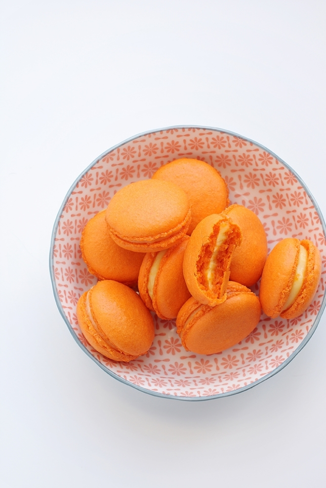Orange curd macarons | chilitonka