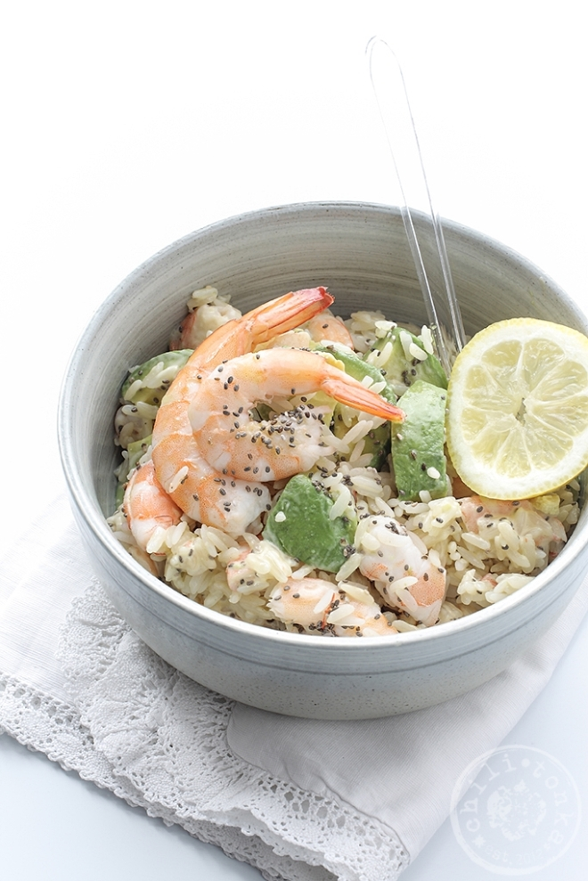 Rice, avocado & shrimp salad | chilitonka