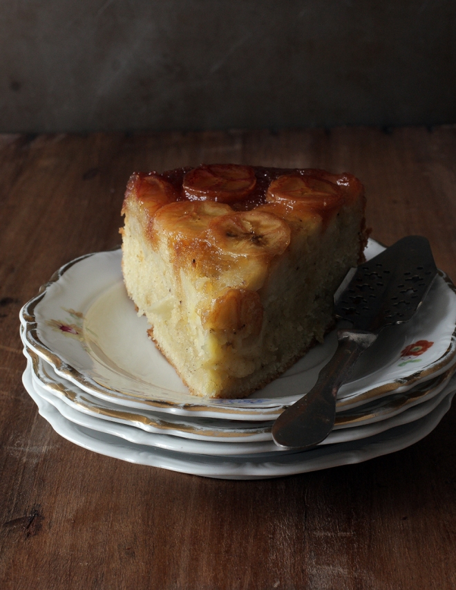 Banana upside-down cake | chilitonka