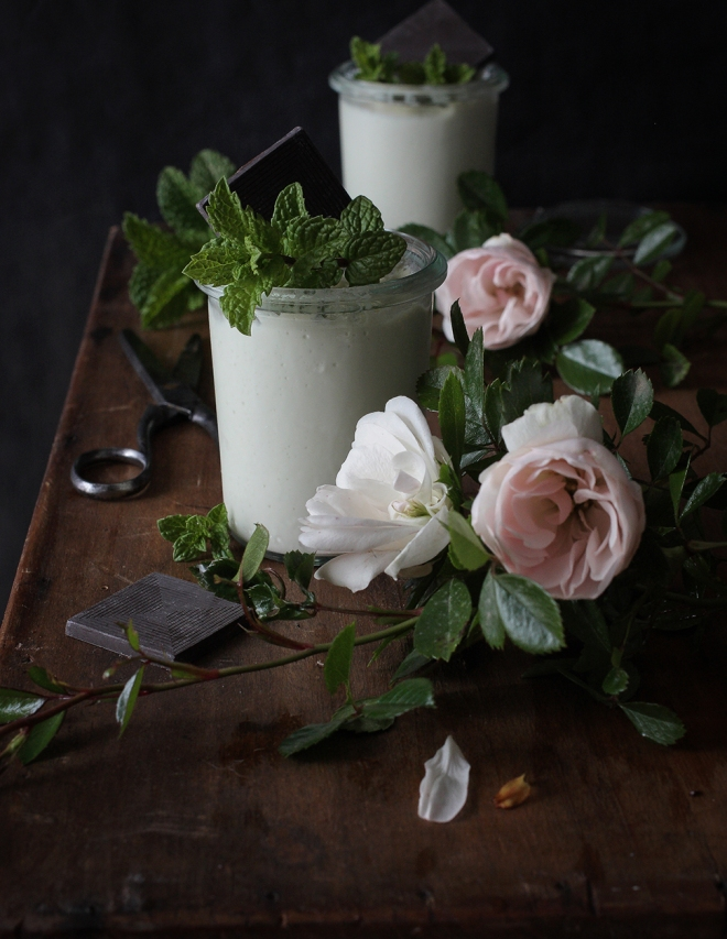 Mint panna cotta | chilitonka