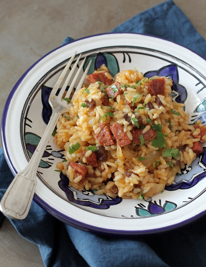 Risotto with chorizo and raisins | chilitonka