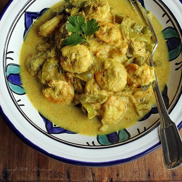 Krewetkowe curry z mleczkiemkokosowym