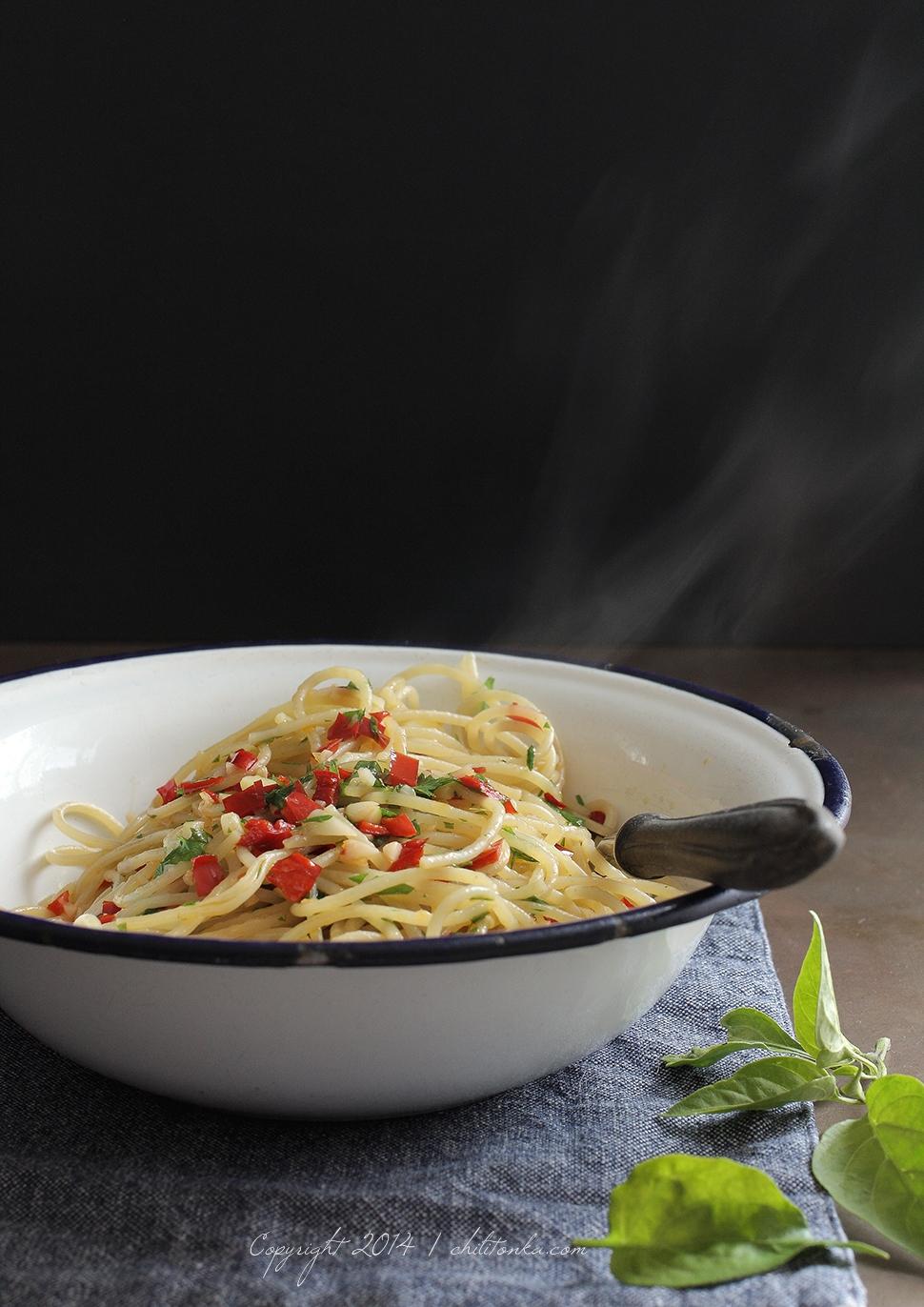Spaghetti aglio olio | chilitonka