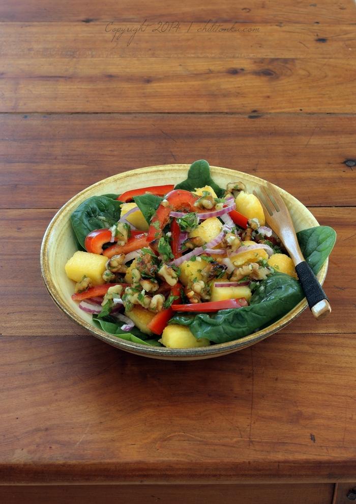 Polenta salad | chilitonka