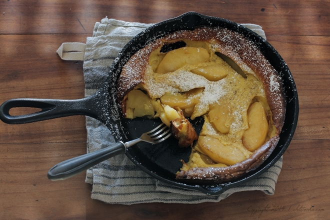 Gruby naleśnik z jabłkami | chilitonka