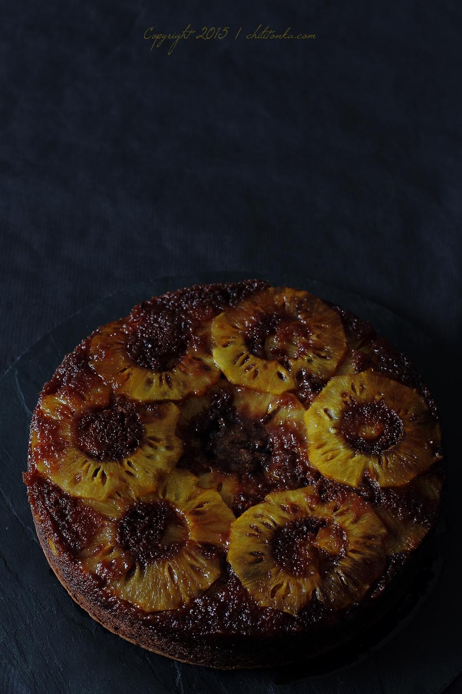 Odwrócone ciasto czekoladowe z ananasem | chilitonka