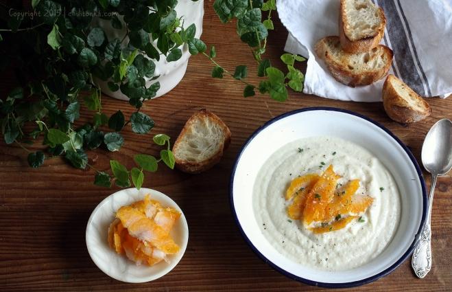 Krem kalafiorowy z wędzoną rybą | chilitonka