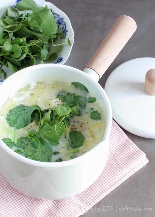Zupa porowa z rukwią wodną | chilitonka