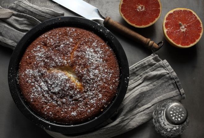 Ciasto z czerwonym pomelo | chilitonka
