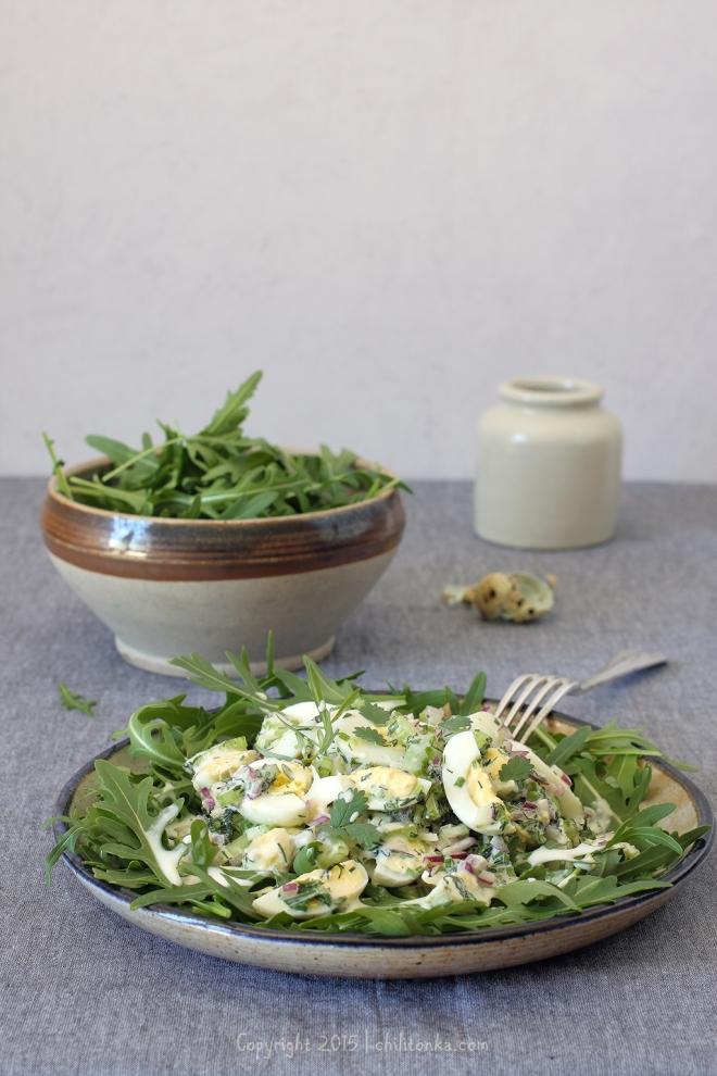 Sałatka jajeczna z ziołami | chilitonka