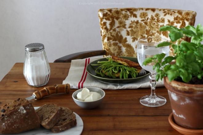 Omlet z dzikimi szparagami | chilitonka