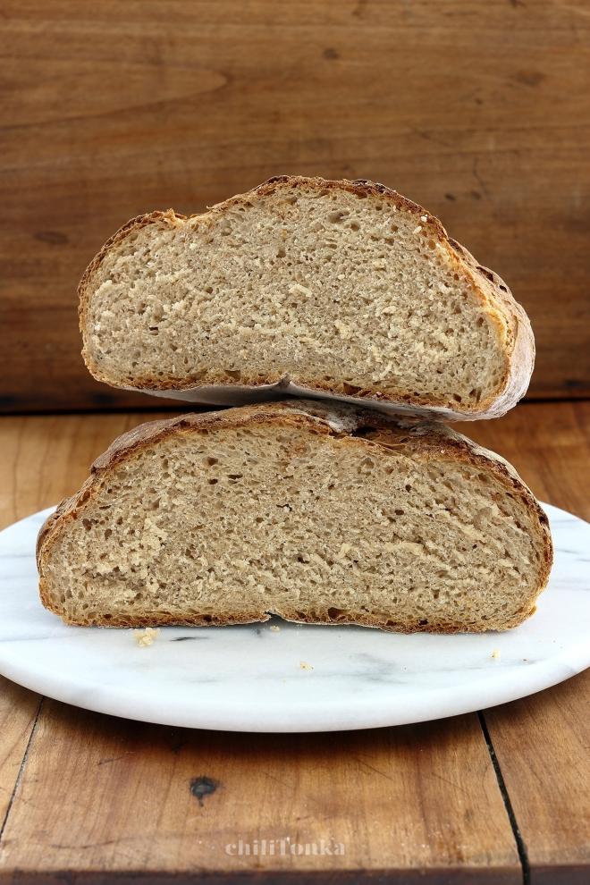 Chleb pszenno orkiszowy na suchym zakwasie | chilitonka