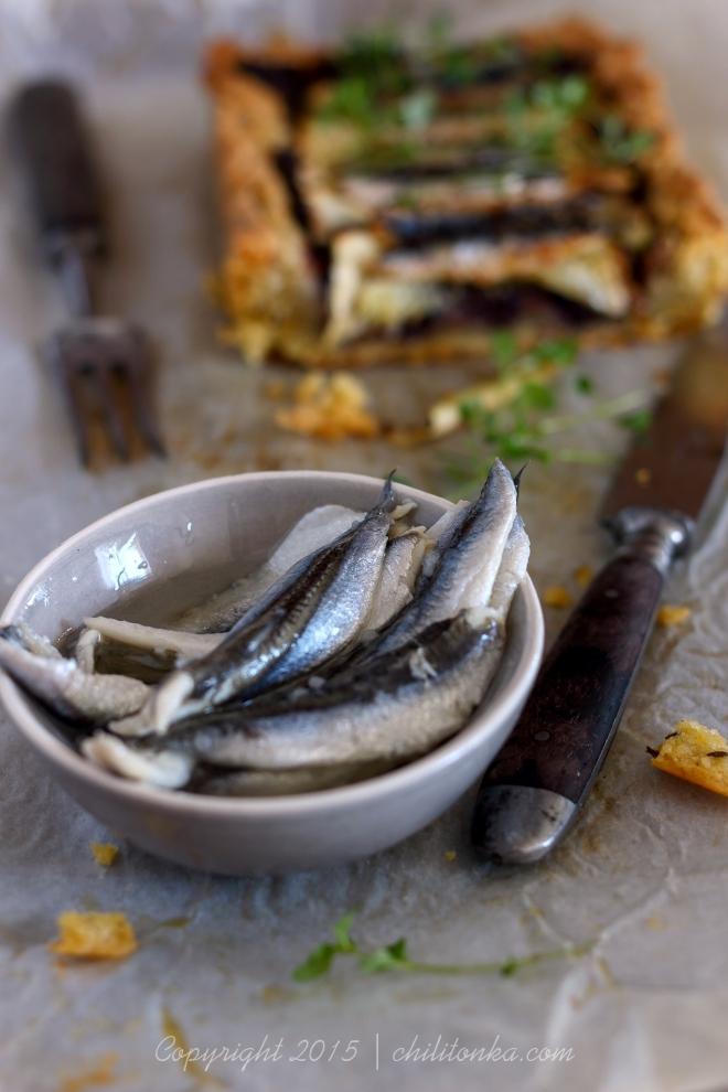 Tarta z cukinią i anchovis | chilitonka