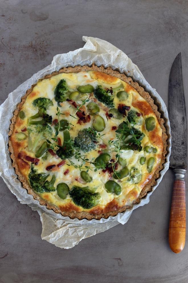 Tarta z bobem i brokułami | monika domańska