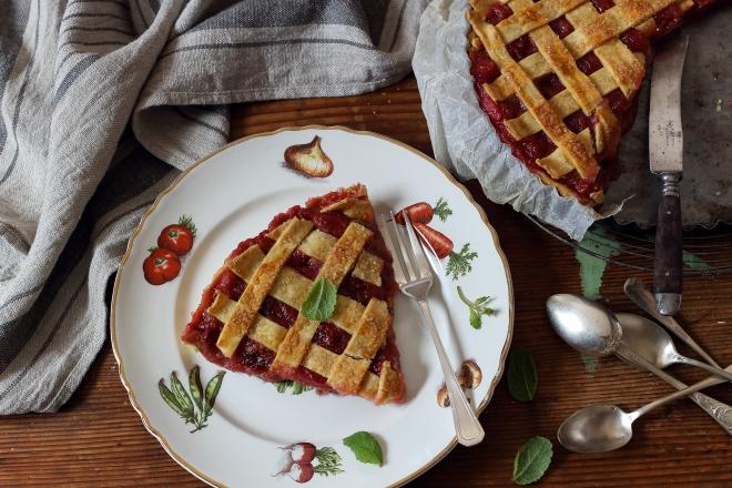 Francuska tarta z rabarbarem | chilitonka