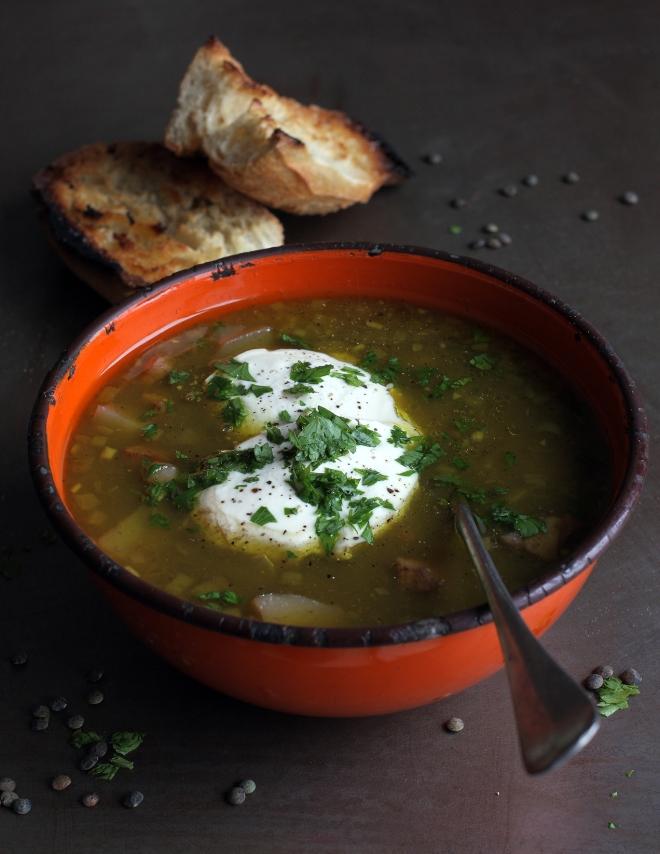 Puy lentil soup | monika domańska