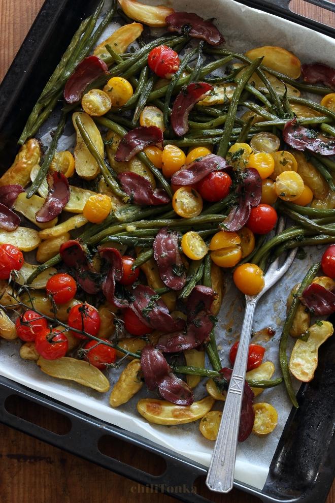 Pieczone warzywa z wędzoną kaczką | chilitonka