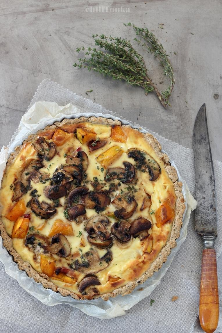 Tarta z dynią i pieczarkami | chilitonka