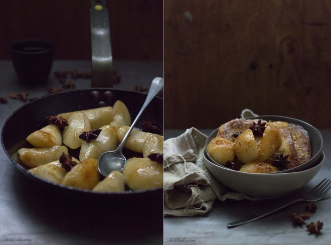 French toast with pears| chilitonka