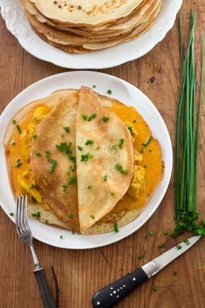 Naleśniki z kurczakiem curry | chilitonka