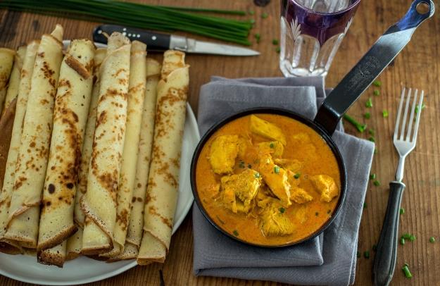 Naleśniki z kurczakiem curry| chilitonka