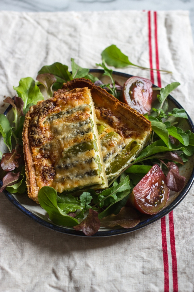 Asparagus and Parmesan quiche | chilitonka