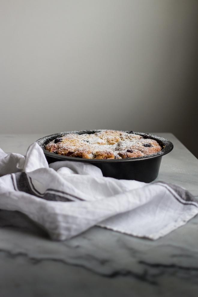 Ucierane ciasto z owocami | chilitonka