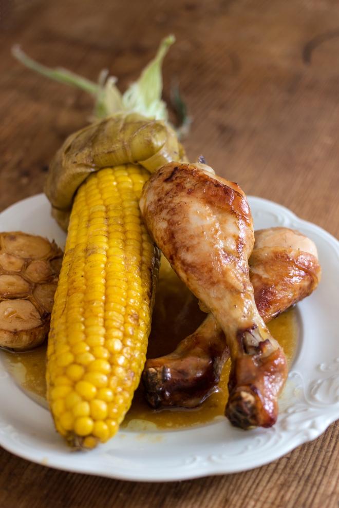Kurczak z kolbą kukurydzy | chilitonka