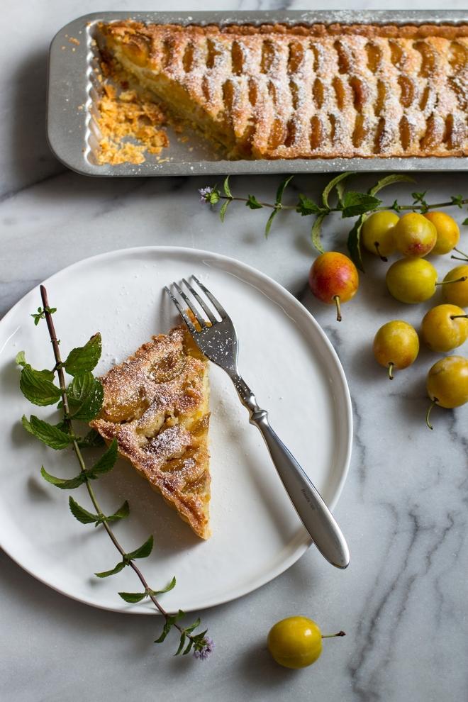 Tarta migdałowa z mirabelkami | chilitonka
